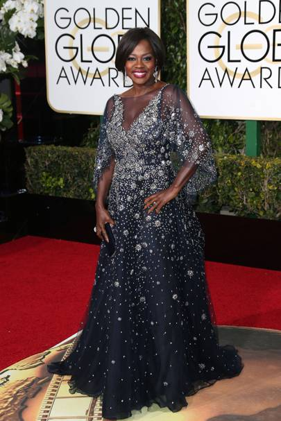 Viola Davis at the 2016 Golden Globes