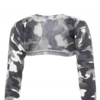 Camouflage cropped cardigan, £35