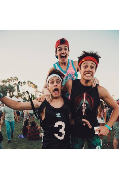 Cameron Dallas, Aaron Carpenter & Chris Gonzalez