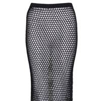 Black crotchet knit skirt, £45