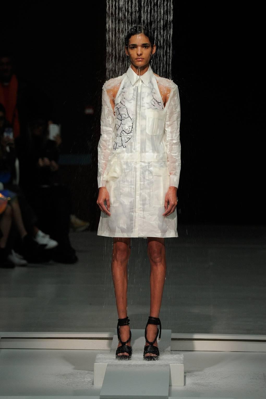 Chalayans hussein models took shower runway