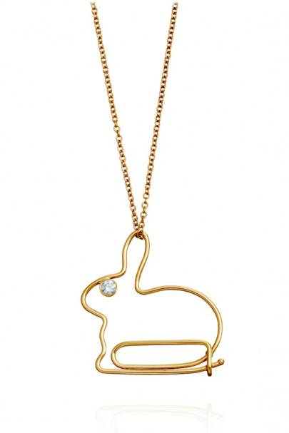 Hillier Bunny Paperclip Necklace