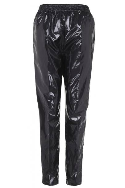 High-shine trousers, £50