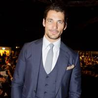 David Gandy wearing a three-piece suit