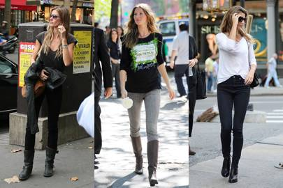 Gisele Bündchen's skinny-jeans-and-boot combo