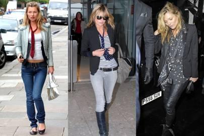 Kate Moss's skinny scarves