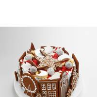 Twist: Biscuit-Decorated Christmas Cake