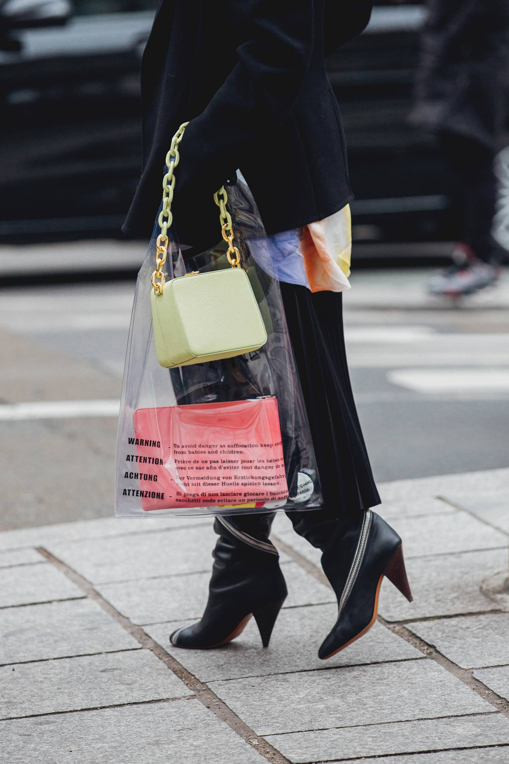 98949a0f2 Street Style: How To Wear A Clear Bag | British Vogue