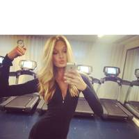 Romee Strijd hits the gym one last time
