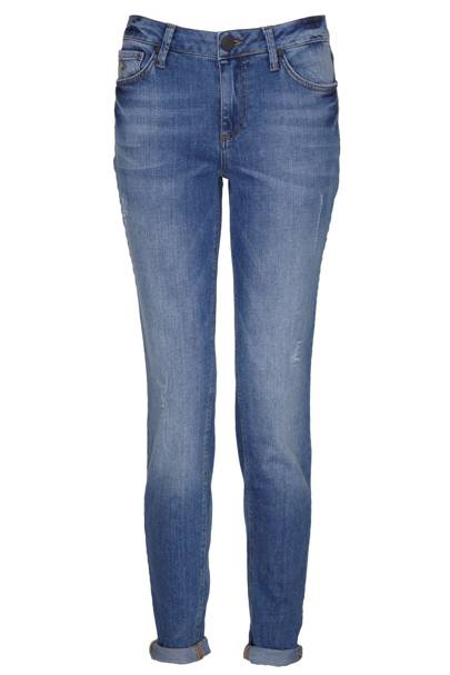 Blue slim-legged denim jeans, £50