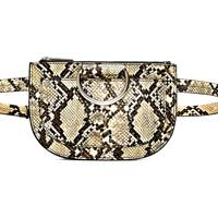 Zara: snakeskin belt bag