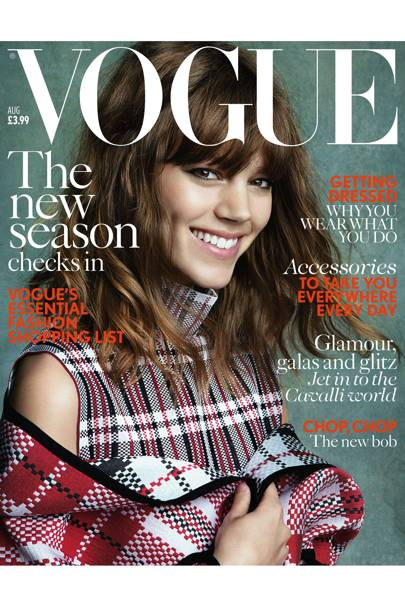 Vogue cover, August 2013