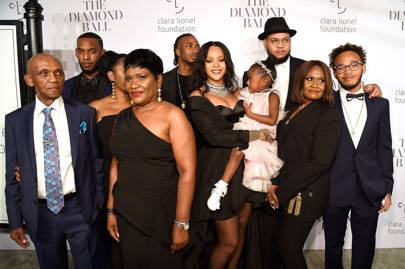 Rihanna and her extended family