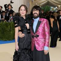 Dakota Johnson and Alessandro Michele