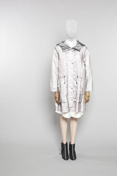 Lace pop parka, £550