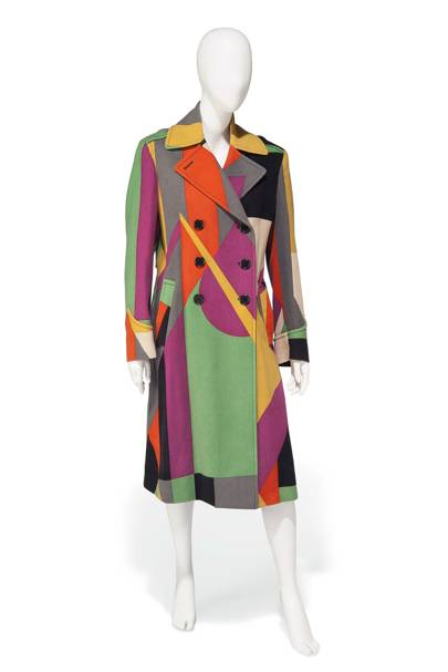 Paul Smith multi-coloured trench coat