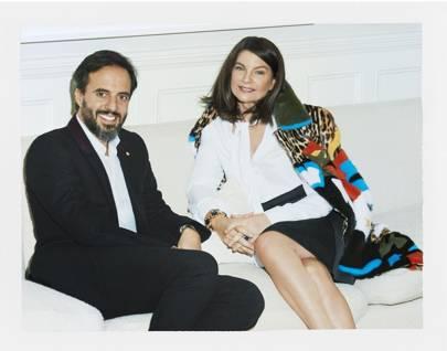Natalie Massenet with Farfetch founder Jose Neves.