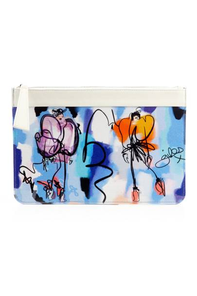 Tiger illustrated pouch, £150