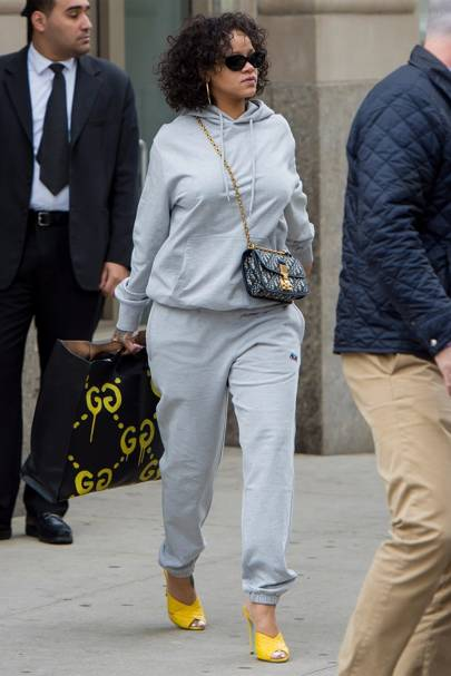 965e38936bd How Rihanna Elevates Tracksuits To High-Fashion Looks