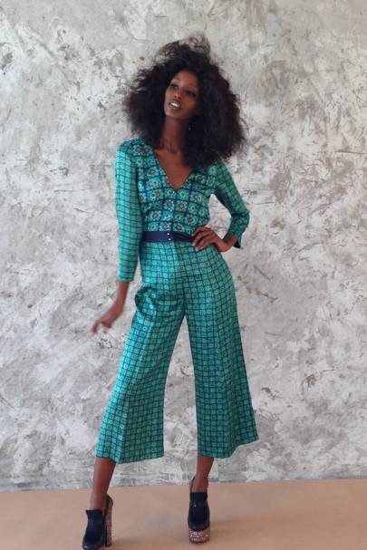 Senait really loved her wig and the jumpsuit – obvs!