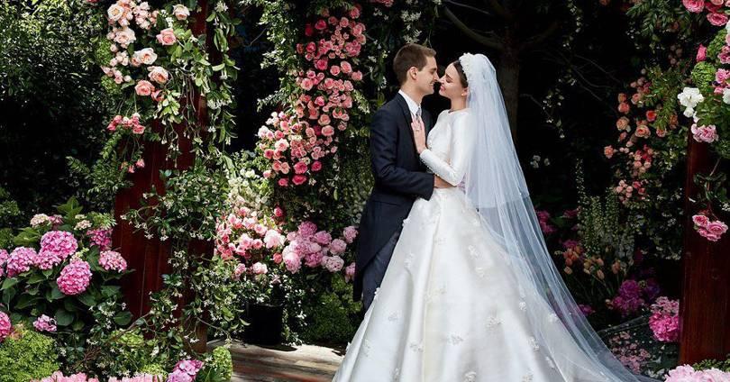 Miranda Kerr Wedding Dress Dior Haute Couture British Vogue