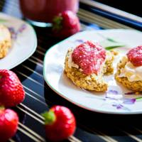 Quinoa Scones and Strawberry Chia Jam
