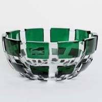 Baccarat's green crystal vase