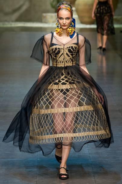 Dolce & Gabbana Cane Cage Crinoline dress, spring/summer 2013