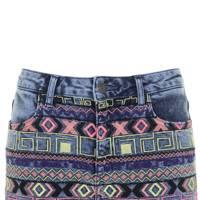 Embroidered denim shorts, £35