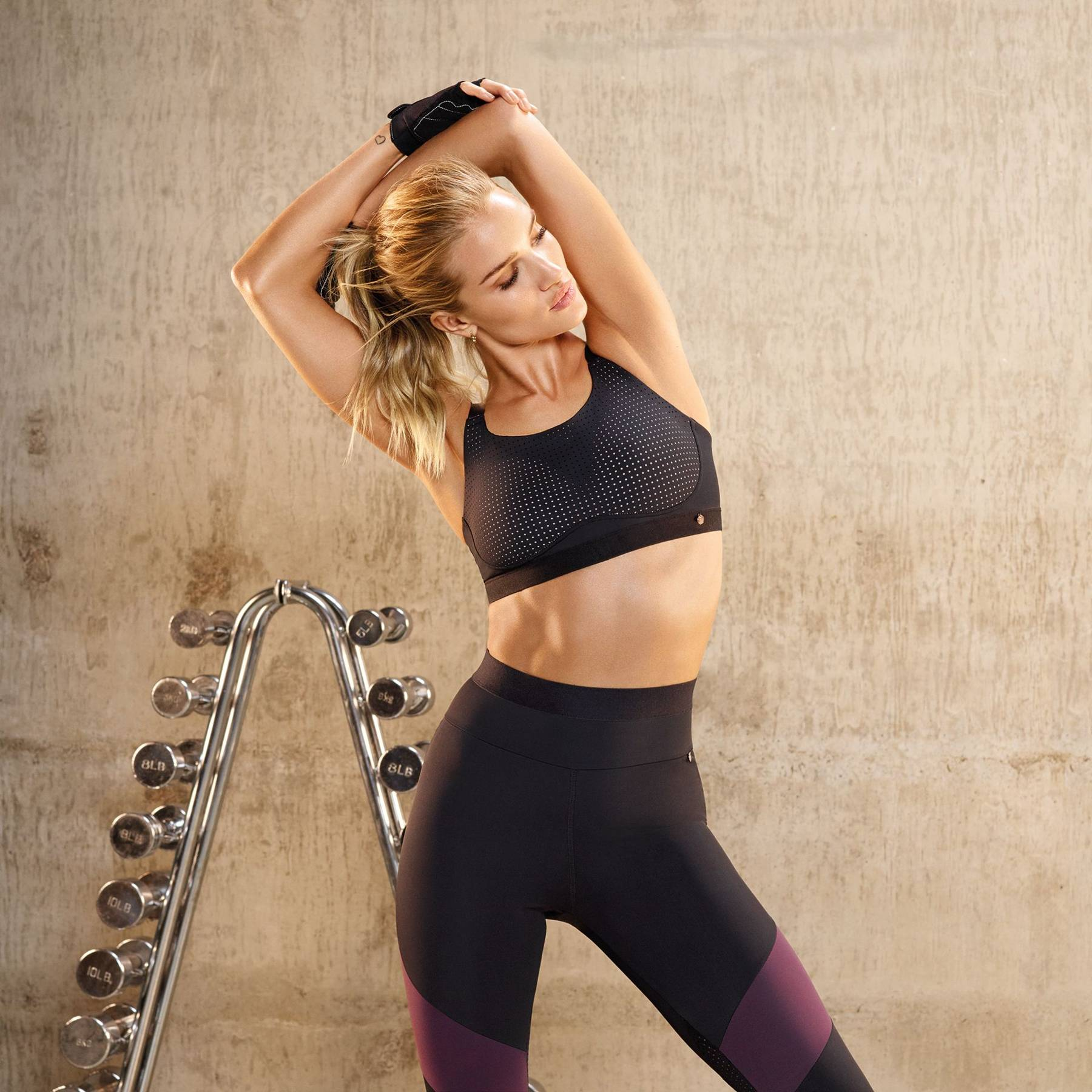5b5bef8e5b Rosie Huntington-Whiteley Marks Spencers Activewear Workout Gear ...