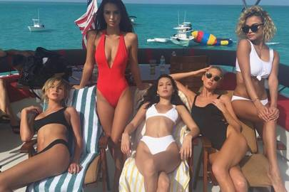 Hailey Baldwin, Emily Ratajkowski, Bella Hadid, Elsa Hosk and Rose Bertram