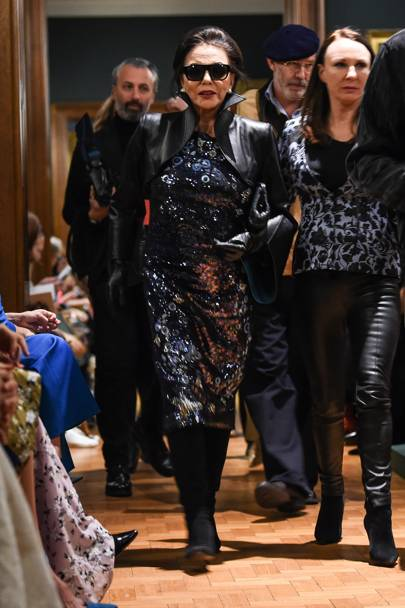 Joan Collins Is The Toast Of LFW