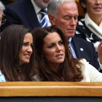 Wimbledon 2012 with sister Pippa Middleton