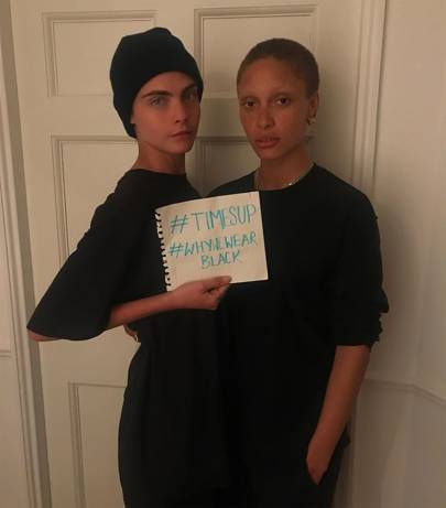 Cara and Adwoa's support from home