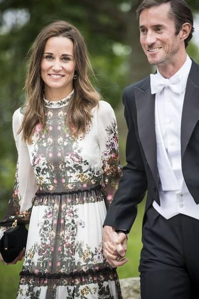 Pippa Middleton Wears Erdem To The Stockholm Wedding Of Jons