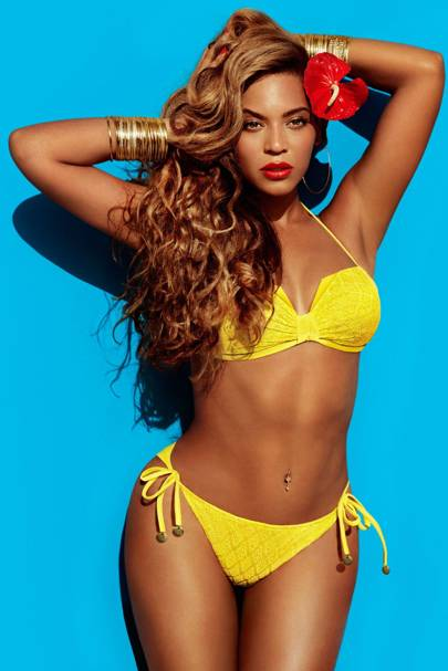 Beyoncé in an H&M swimwear campaign, 2013