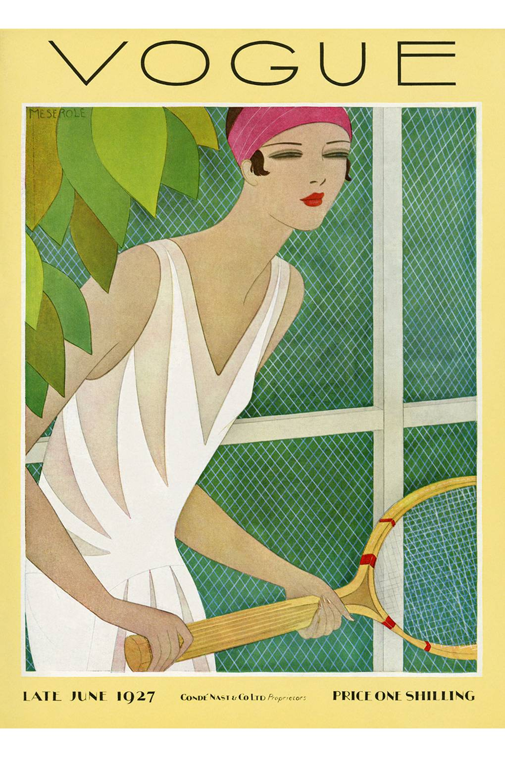 Tennis Vogue June 1927 cover by Harriet Meserole 15 July 1927 US edition