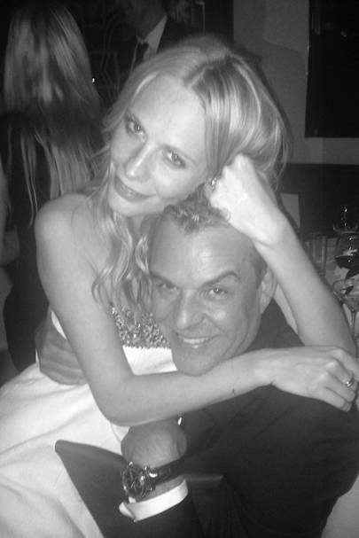 Poppy Delevingne and Danny Huston at the Chanel pre-Oscar supper at Madeo.