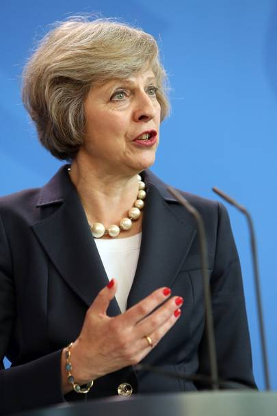 When Theresa May made red nail polish her beauty signature