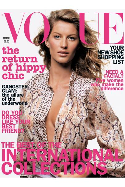 Vogue Cover, March 2002
