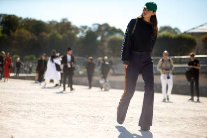 The piece: Straight, wide-leg trousers