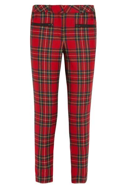 Wool tartan trousers, £270
