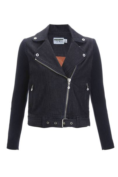 Denim biker jacket, £155