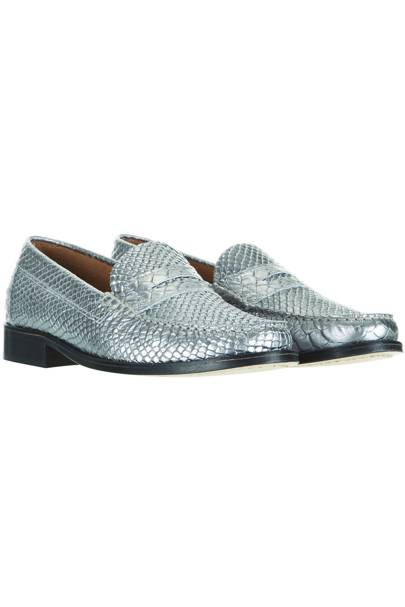 Silver loafers, £70