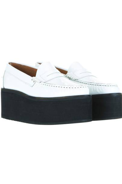 White platform loafers, £85