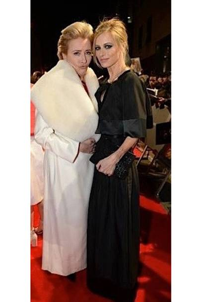 Emma Thompson and I in black and white at the Baftas