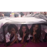 Jourdan Dunn, Izabel Goulart and Joan Smalls hide backstage