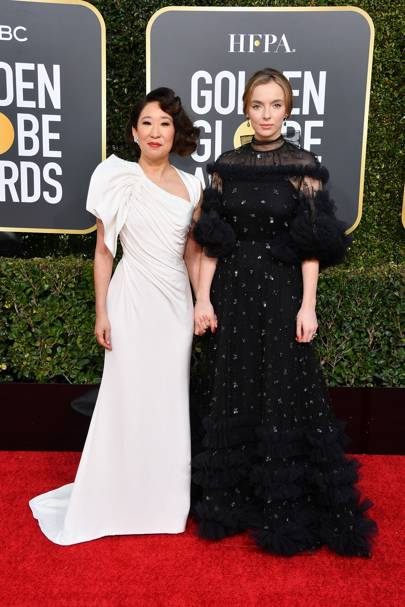 Sandra Oh and Jodie Comer served up a thematic Killing Eve reunion