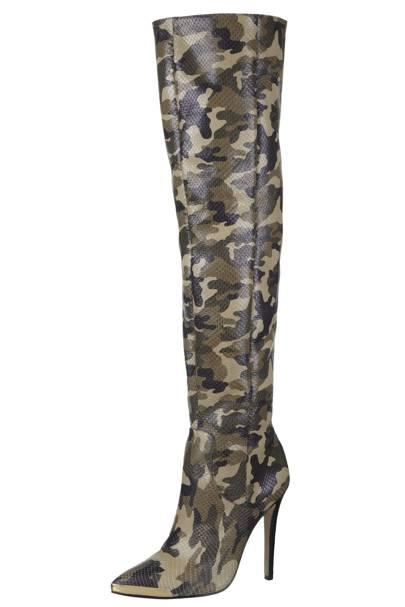 Limited edition camouflage boots, £200