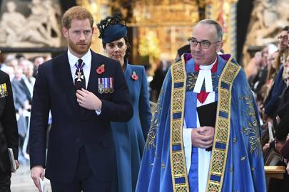 Prince Harry Is Accompanied By Kate For A Westminster Service In Honour Of Anzac Day